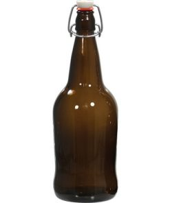 EZ-Cap Bottle, 1 Liter, Amber, Case of 12